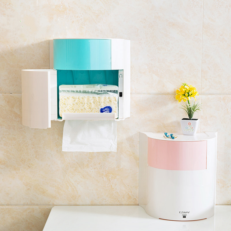 Bathroom Hardware Bathroom Fixtures Provided Simple Bathroom Accessories Toilet Paper Holder White Lavatory Closestool Toilet Paper Dispenser Tissue Box Goods Of Every Description Are Available
