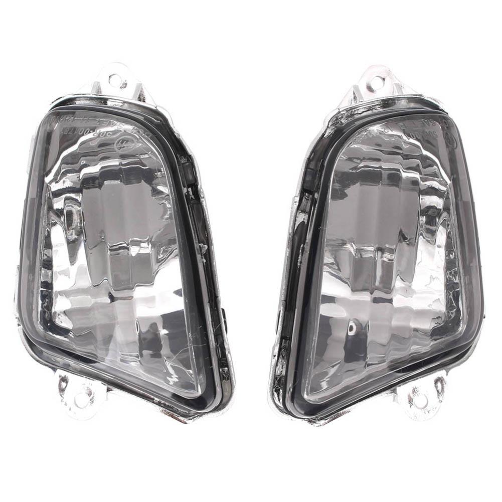 E-Mark For Honda CBR1100XX CBR 1100 XX Front Turn Signals Indicator Light Lamp Blinker Lens Cover Shell 1997-2006