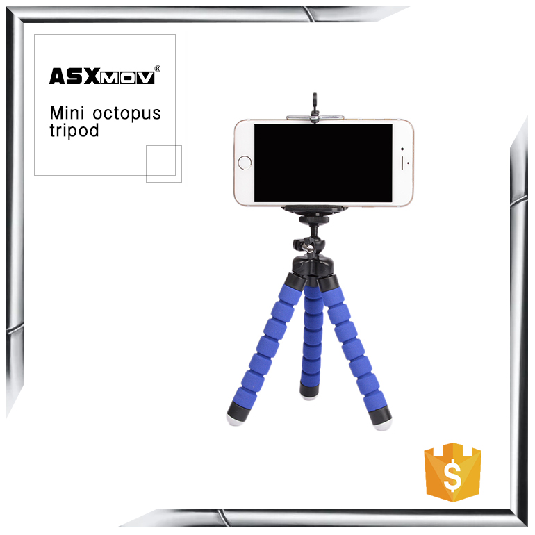 Flexible camera octopus tripod,mini selfie stick tripod stand for camera/cellphone/mobile phone