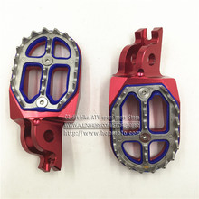 Billet CNC MX Foot Pegs Pedals Rests Stainless Steel For CR CRF CR125 CR250 CR500 CRF250 CRF450 Motocross Enduro Supermotard