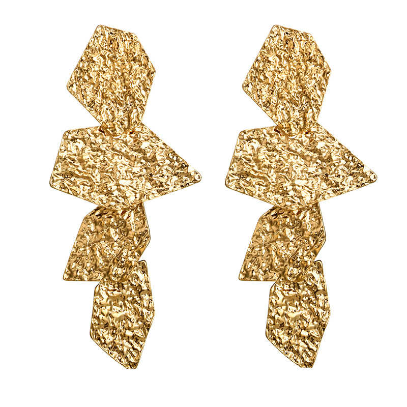Za Gold&Silver Color Metal Clip on Earrings No Pierced 2019 Women Party Statement Jewelry Ear Clips Accessories Wholesale