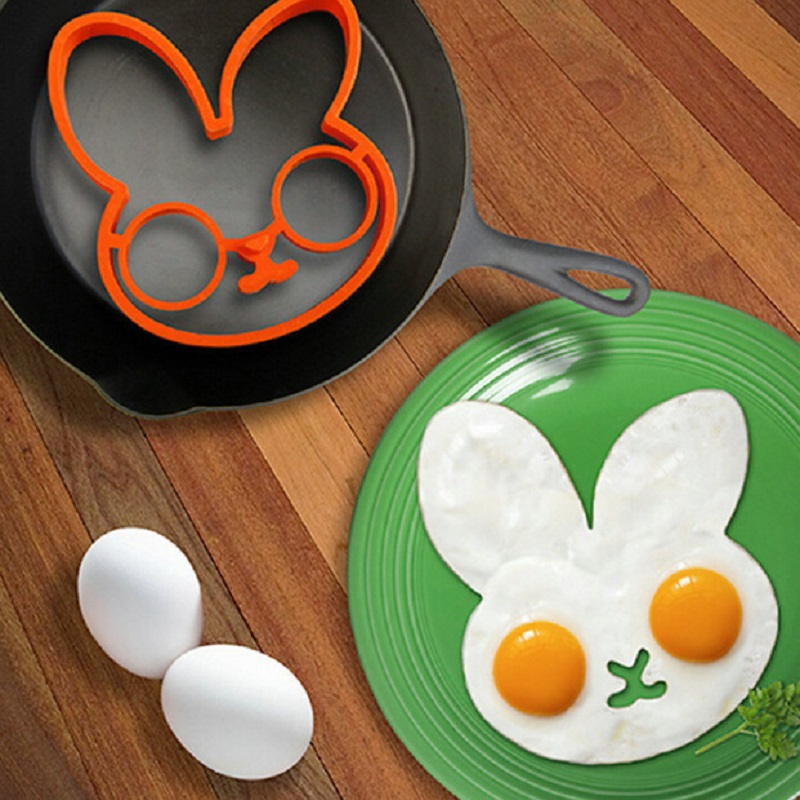 1pcs Food Grade Silicone Rabbit Egg Tool Easy & Safty Kitchen & Dinning Bar Tool Home made Breakfirst Tool