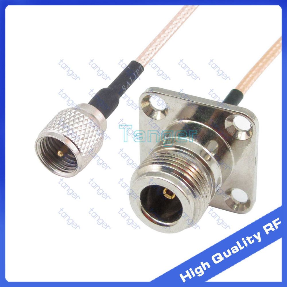 Mini UHF male plug PL-259 to N female jack 4four hole panel straight with 20cm 8 RG316 RF Coaxial Pigtail cable High QualityMini UHF male plug PL-259 to N female jack 4four hole panel straight with 20cm 8 RG316 RF Coaxial Pigtail cable High Quality