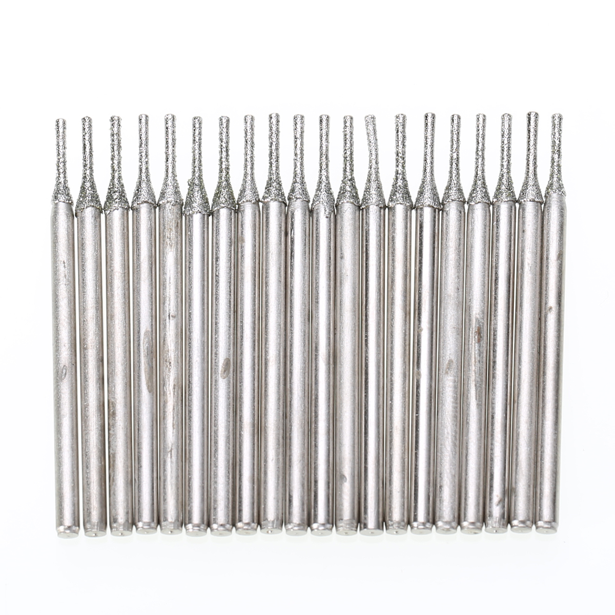 20pcs/set Diamond Coated Core Drill Bits Hole Cutter 1mm Solid Bits Needle For Gems Glass Tile silver jewelry gems drill bits diamond coated hole saw tools 0 7mm set of 100