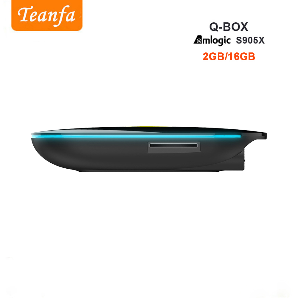 Teanfa Q BOX Kutia e sipërme 2G 16G Android 6.0 Smart TV Box S905X - Audio dhe video në shtëpi - Foto 4