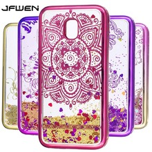 JFWEN For Samsung Galaxy J3 2017 Case Luxury Soft TPU Silicone Quicksand Back Cover Phone Cases For Samsung J3 2017 J330 Case