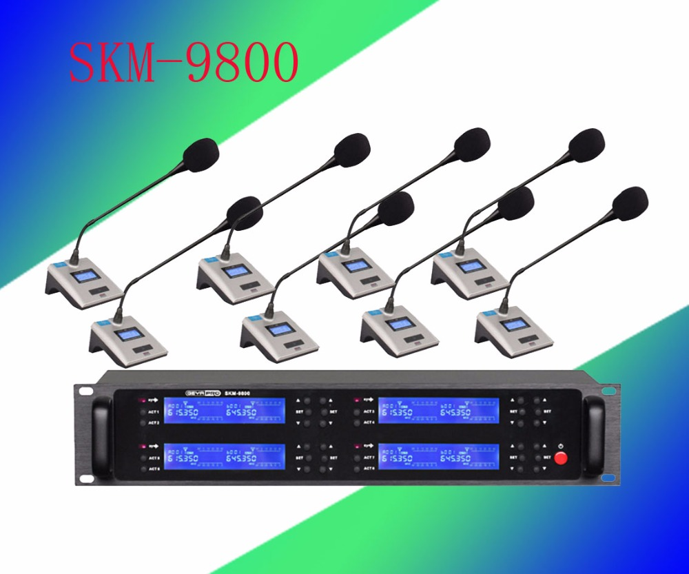 Pro microphone UHF 8 wireless Gooseneck Conference microfoon  System