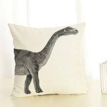Newest Design Dinosaur Throw Pillowcase Geometry Cushion Cover Home Decor Printed Linen Square Home Decor Pillowcase