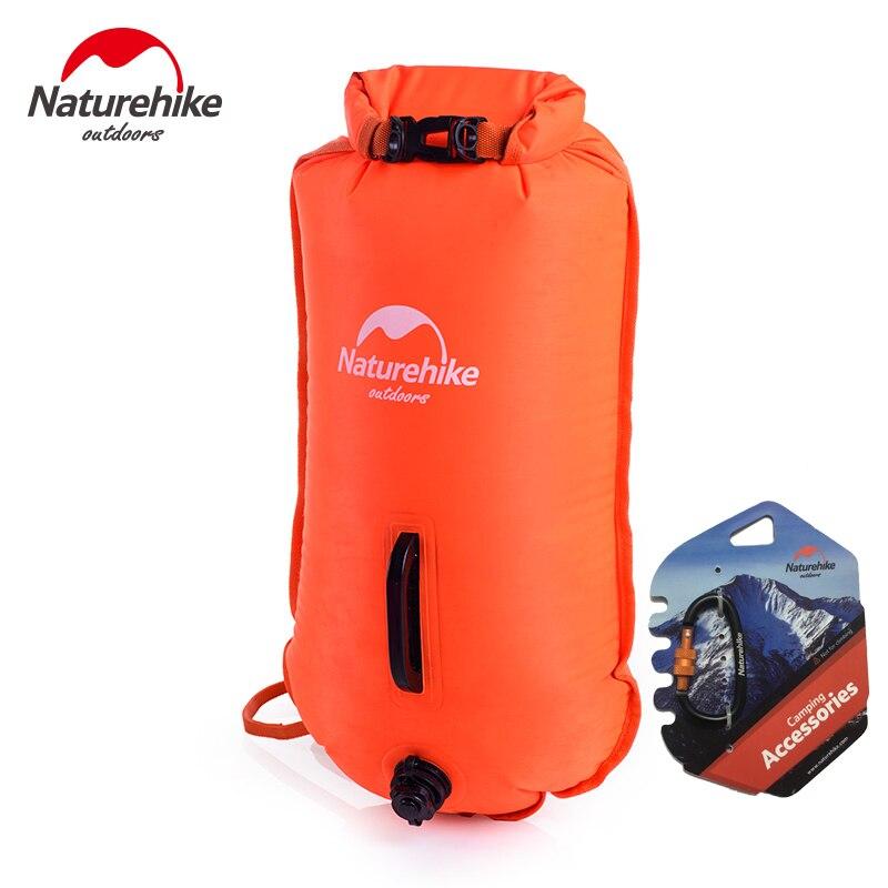 Naturehike Inflatable Swimming Flotation Bag Life Buoy Pool Floaties Dry Waterproof Bag For Swimming Drifting Pink Orange