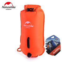 Naturehike Inflatable swimming flotation bag life buoy pool floaties dry waterproof bag for swimming drifting pink orange