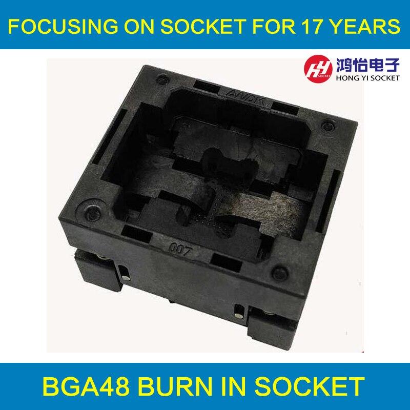 BGA48 OPEN TOP burn-in socket pitch 0.8mm IC size 9*11mm BGA48(9*11)-0.8-TP10/50N BGA48 VFBGA48 Burn in/programmer socket bga81 open top burn in socket pitch 1 0mm ic size 14 18mm bga81 14 18 1 0 tp02 50n bga81 vfbga81 burn in programmer socket
