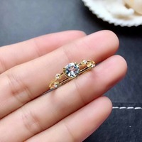shilovem 925 sterling silver real Natural aquamarine Rings fine Jewelry women trendy wedding open new plant 5*5mm mj050509aga