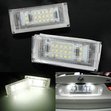 2 шт. 18 светодио дный 6000 К для HID номерных знаков свет номерной знак лампа для BMW E46 4D 4 двери 323i 325i 328i 99-03 ошибок