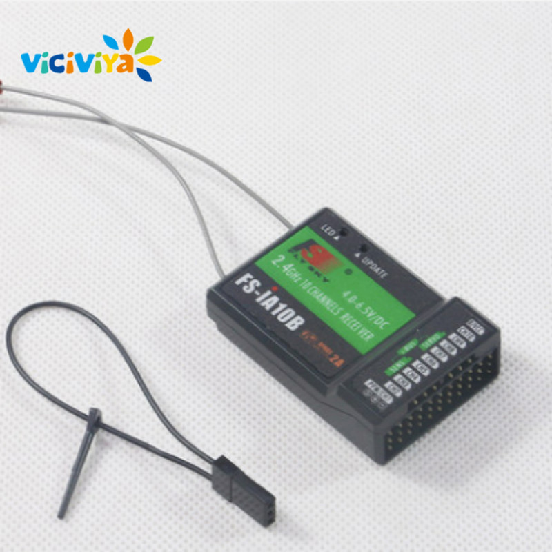 VIVICIYA FS-IA10B 10CH Mini Drone Receiver FS IA10B for Transmitter FS-I10 FS-I6S FPV RC Helicopter Quadcopter Aircraft Parts. mini drone rc helicopter quadrocopter headless model drons remote control toys for kids dron copter vs jjrc h36 rc drone hobbies