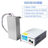 Industrial Ultrasonic portable vibration plate generator Dishwasher Cleaner Machine 2400W Ultrasound Bath Tank Washer Immersion