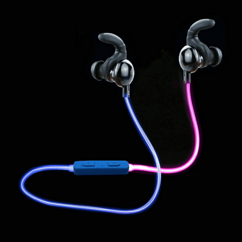 Zeryenyi Glowing Bluetooth Headphone 2017 Newset Glow In The Dark Color Transformation Headphones with Mic for Xiaomi Apple Htc гарнитура skullcandy ink d with mic dark red s2ikhy 481