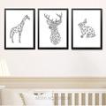Cartel nórdico abstracto geométrico Deer animales carteles e impresiones Wall Art lienzo pintura cuadros para sala de estar unframed