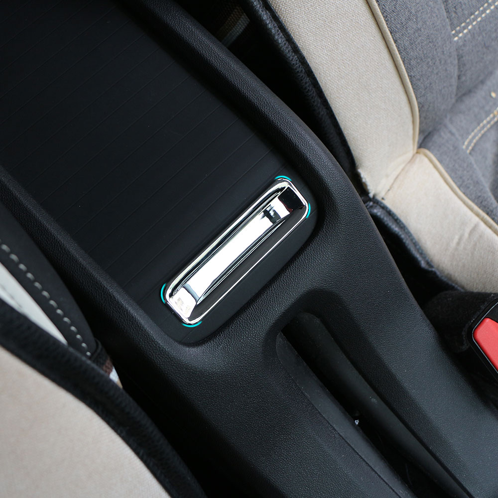 Jameo Auto Car Chrome Armrest Storage Box Handle Decorative Panel Trim Sequin Sticker for Peugeot 2008 2014 - 2017 Accessories