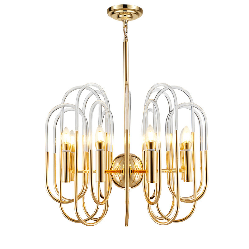 Modern Pendant Light Creative LED hanging lamps gold metal clear acrylic for Coffee House Bedroom Suspension Ceiling FixtureModern Pendant Light Creative LED hanging lamps gold metal clear acrylic for Coffee House Bedroom Suspension Ceiling Fixture