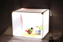 Profissional 45×35 cm CONDUZIU a Iluminação de Estúdio Foto Tiro Kit Caixa Barraca Estúdio de Fotografia Luz Tenda Portátil com led luz de tira CD50