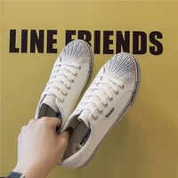 Shoes Men Casual Shoes White Black Sneakers Men Fashion 2019 Autumn Low flat Vulcanized Shoes Skateboarding Running Breathable