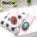 BlueZoo 10 unidades/pacote Grande Oval Verde Strass Vermelho Decoração Liga 3D Encantos Da Arte do Prego Suprimentos Unhas Beleza Acessórios