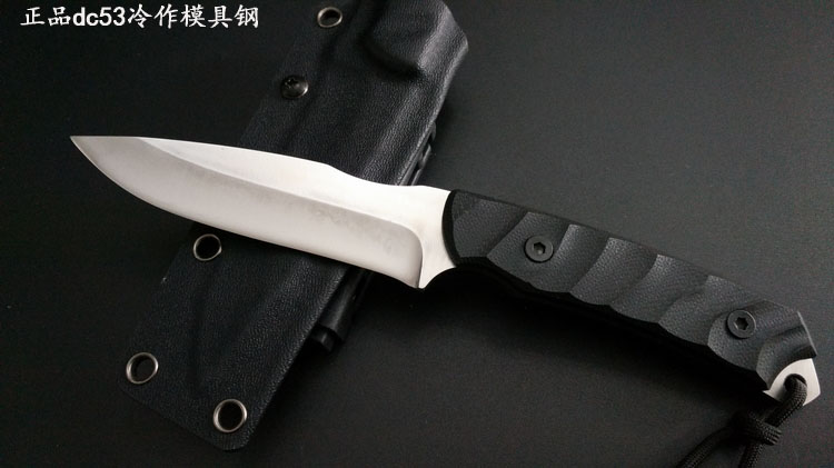 63HRC Survival knife outdoor DC53 steel high hardness small straight knife outdoor essential tool for self-defense Favorites hx outdoors army survival knife outdoor tools high hardness straight knives essential tool for self defense cold steel knife