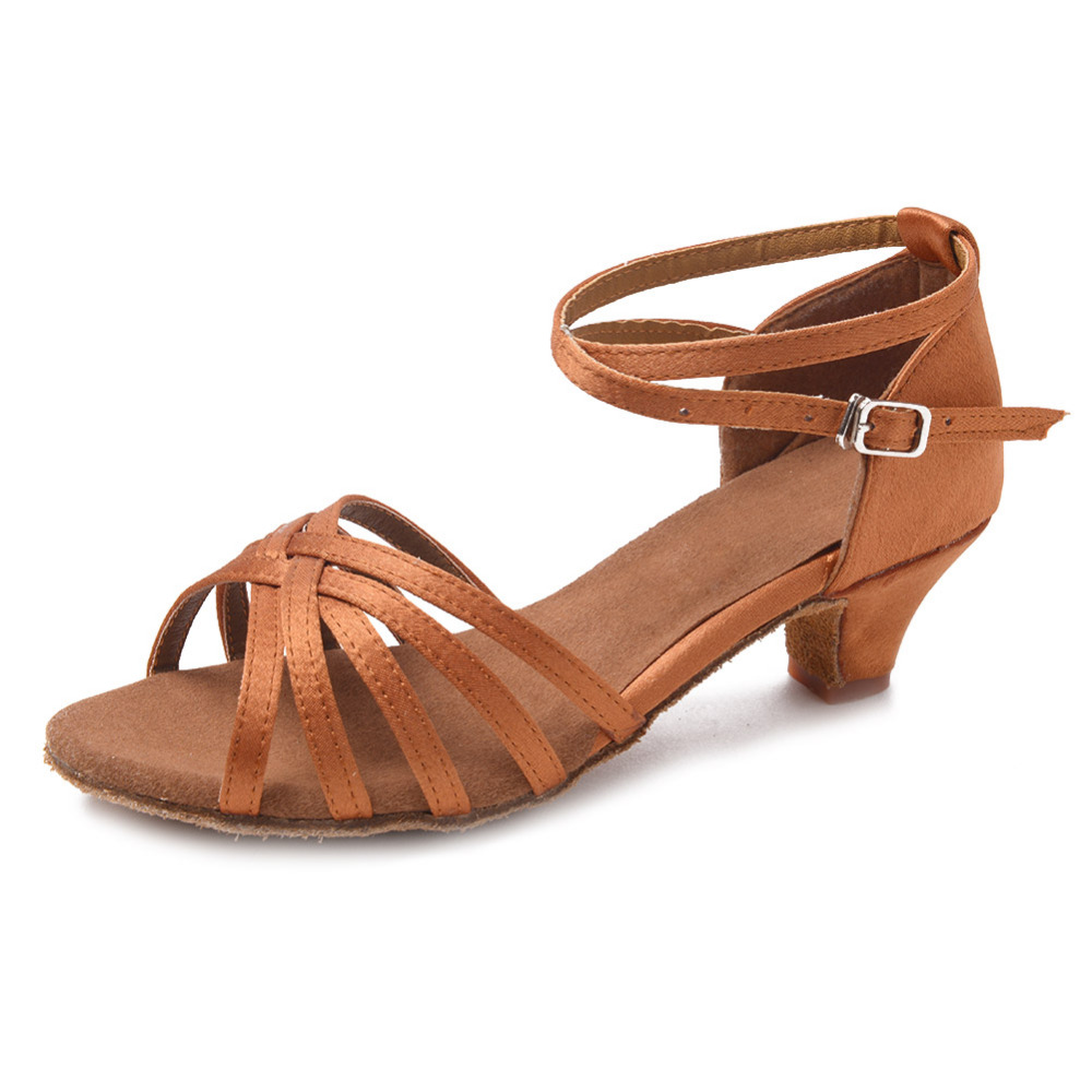 4d375fd4ab5 High quality wholesale Girls Children Child Kids ballroom tango salsa latin dance  shoes low heel Dance Shoes Light Red soft