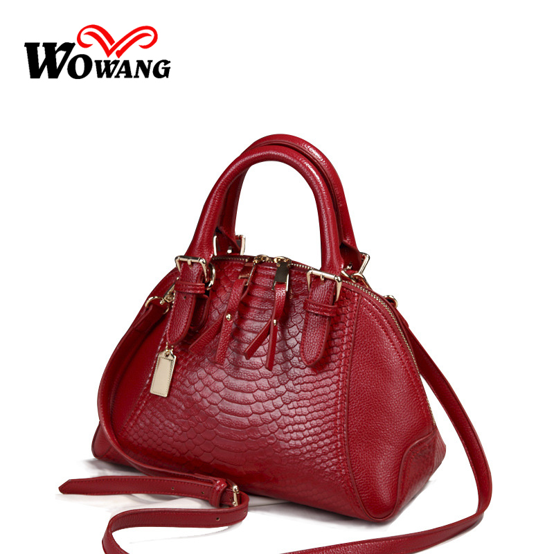 NEW 2016 Brand Women Genuine Leather Handbags Famous Women Shoulder Bag Fashion Tassel crossbody Messenger Lady's Retro Tote Bag
