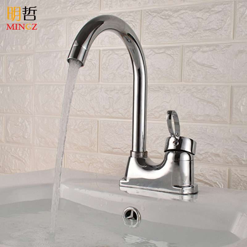 Basin Can Be Rotated Hot And Cold Faucet Sink Single Handle Three Holes Bathroom Washbasin Wash Basin Faucet Copper