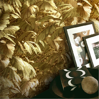 Reflective Luxury Photo Wallpapers Gold Foil Wallpaper Gold Embossed Background Wall Wallpaper For Living Room Ceiling