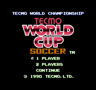 Tecmo World Cup Soccer Region Free 8 Bit Game Card For 72 Pin Video Game Player image