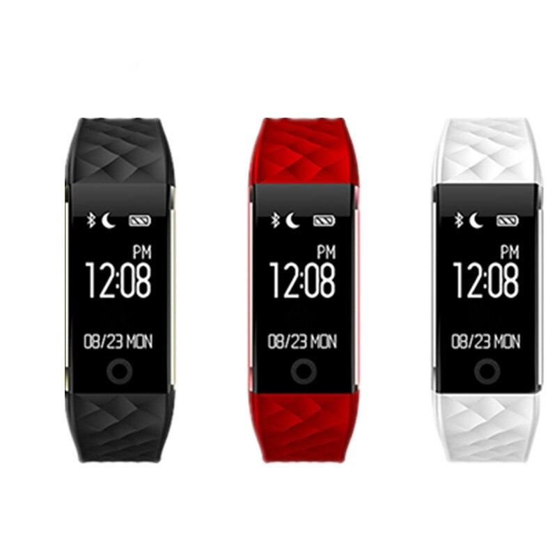 imágenes para S2 Bluetooth Banda Inteligente Pulsómetro Pulsera Smartband Pulsera Para Android IOS Teléfono IP67 A Prueba de agua buena que fitbits