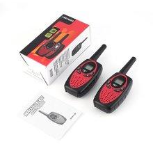 Портативный 2 шт. Walkie Talkie двухстороннее радио беспроводной переговорный с ЖК-экраном дисплей Регулируемый регулятор громкости Зажим для ремня