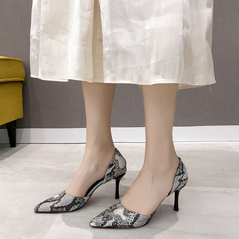 COOTELILI Spring Ladies Pumps Women Shoes Pointed toe Leopard Wedding Shoes Woman High Heels Party Slip on snakeskin