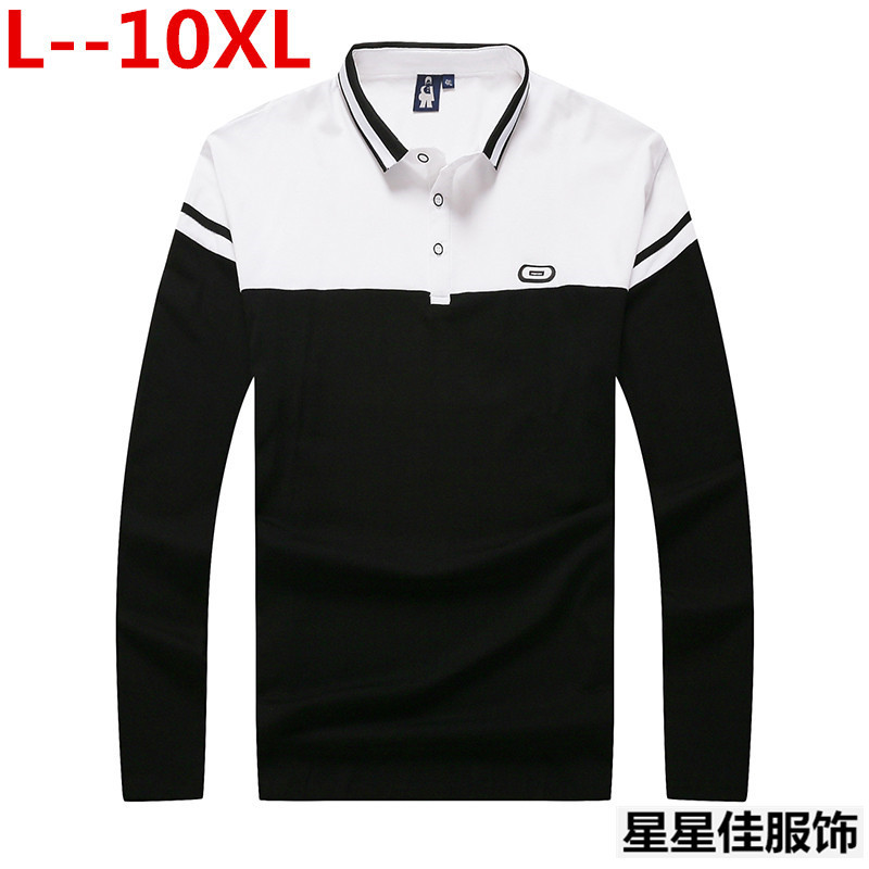 10XL 8XL <font><b>6XL</b></font> New Polo <font><b>Hombre</b></font> Shirt Men Fashion Collar shirts Long Sleeve Casual Camisetas Masculinas Plus Size Polos Sweatshirts image