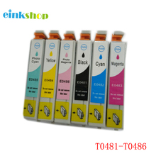 цена на T0481 - T0486 Ink Cartridge For Epson Stylus Photo R200 R220 R300 R300M R320 R340 RX500 RX600 RX620 RX640