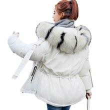 winter jacket women 2019 cotton-padded thicken warm women parka winter coat women long sleeve fur collar hooded outwear female стоимость