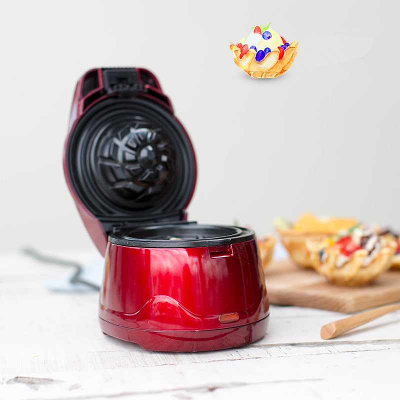 220V Non-stick Electric Ice Cream Waffle Bowl Maker Iron Mold Plate Baker For Homemade DIY Ice Cream Machine Commercial Business commercial non stick 110v 220v electric ice cream fish waffle taiyaki iron maker baker machine