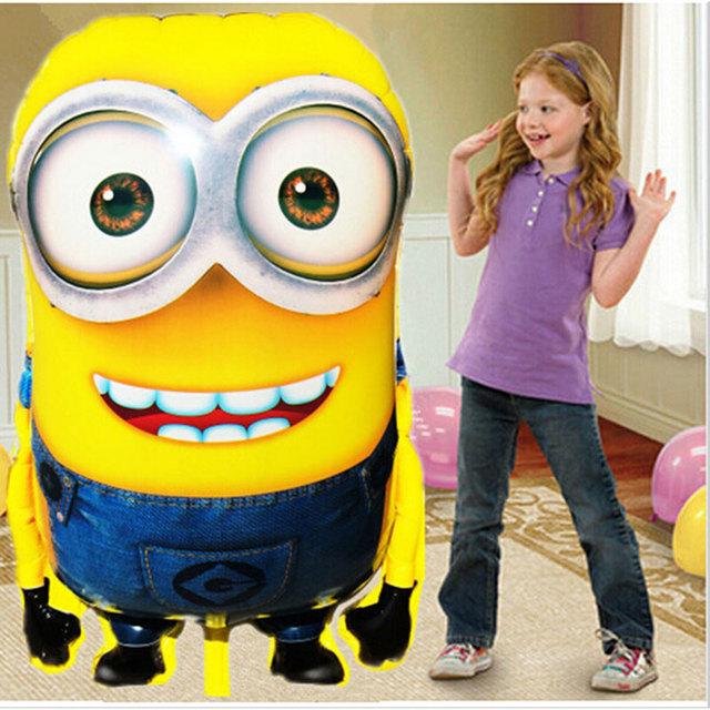 1pcs/lot 92*65cm Despicable Me minions balloons big large helium mylar ballons for Christmas party baby party foil ballon baloes