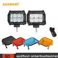 """2x Auxmart 5D 4 """"30 W LED Trabalho Leve Bar spot/inundação beam Offroad + 2x Âmbar/azul/Preto/Vermelho Tampas de Luz para 4X4 SUV 4WD ATV UTV"""