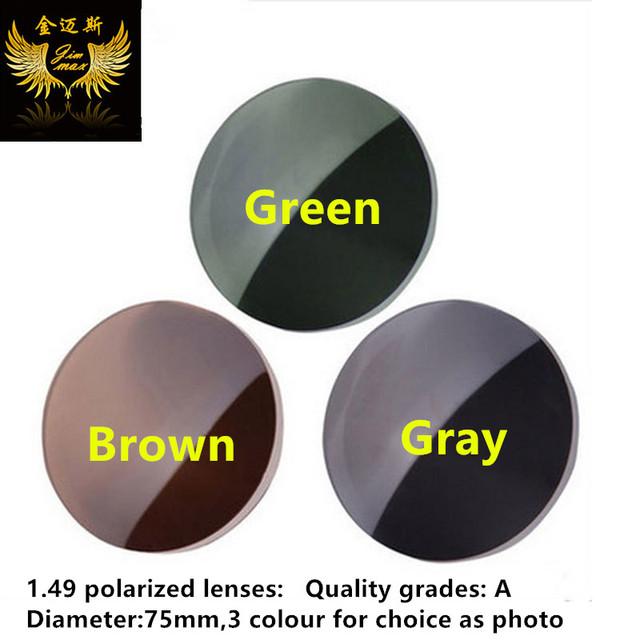 1.49 polarizado gafas de calidad amarillo antideslumbrante cerca de la vista de conducción lentes de la miopía noche gafas de lente