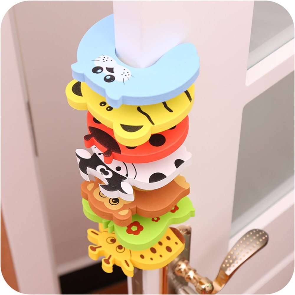 1pc Guard Kid Safety Baby Finger Protector Door Stopper Lock Jammers Pinch Door Handle Knob Crash Wall Protectors Anti Collision защитные накладки для дома happy baby фиксатор для двери pull out door stopper