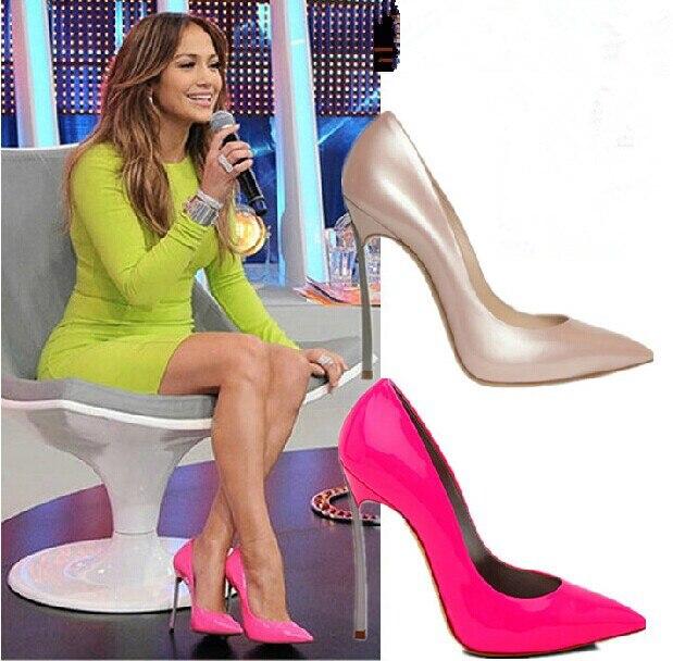 """10 см 4 """" металлические каблуки мода PU лакированная кожа женской туфли на высоком каблуке, На заказ видов цвета ( ню, Черный, Зеленый, Красный и т . д . ) ну вечеринку обувь 39"""