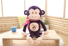 new font b plush b font purple monkeytoy creative ribbon bow monkey doll gift about 65cm