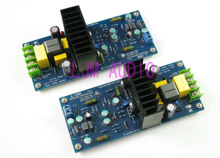 MX100 200W+200W 4ohm 2SA1186 2SC2837 amplifier kit by LJM