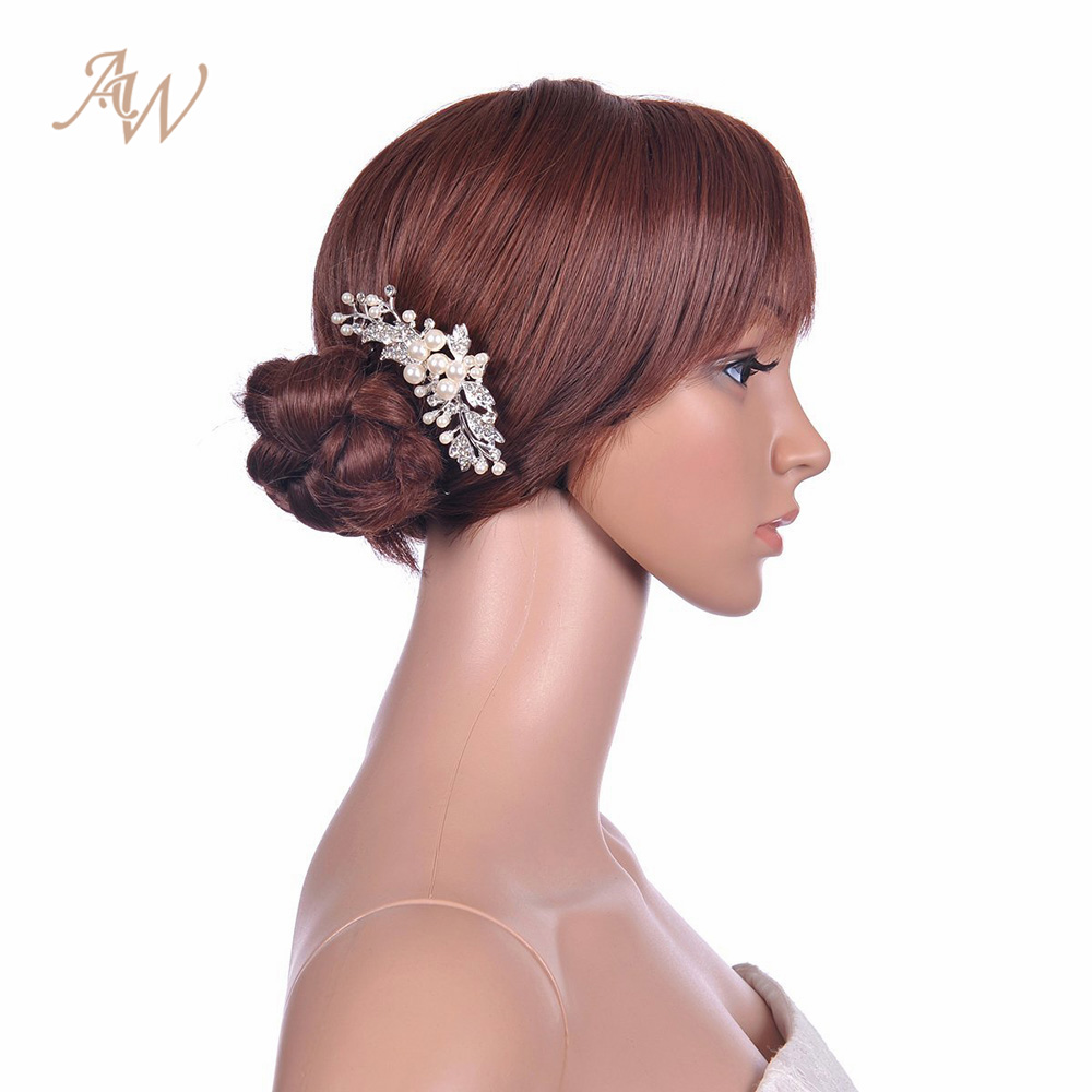 Aw pearlcrystal flower bridal hair comb women headwear floral aw pearlcrystal flower bridal hair comb women headwear floral wedding crown hair accessories gifts in bridal headwear from weddings events on izmirmasajfo