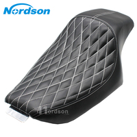 Leather Motorcycle Black Driver Rear Passenger Seat Lingge Motorcylce Seat One Piece For Harley Sportster 883