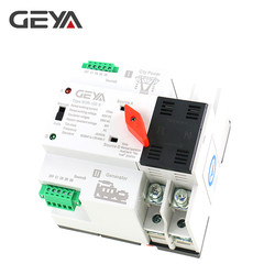 GEYA W2R Mini ATS 2P  Automatic Transfer Switch Electrical Selector Switches Dual Power Switch Din Rail Type ATS 63A 100A