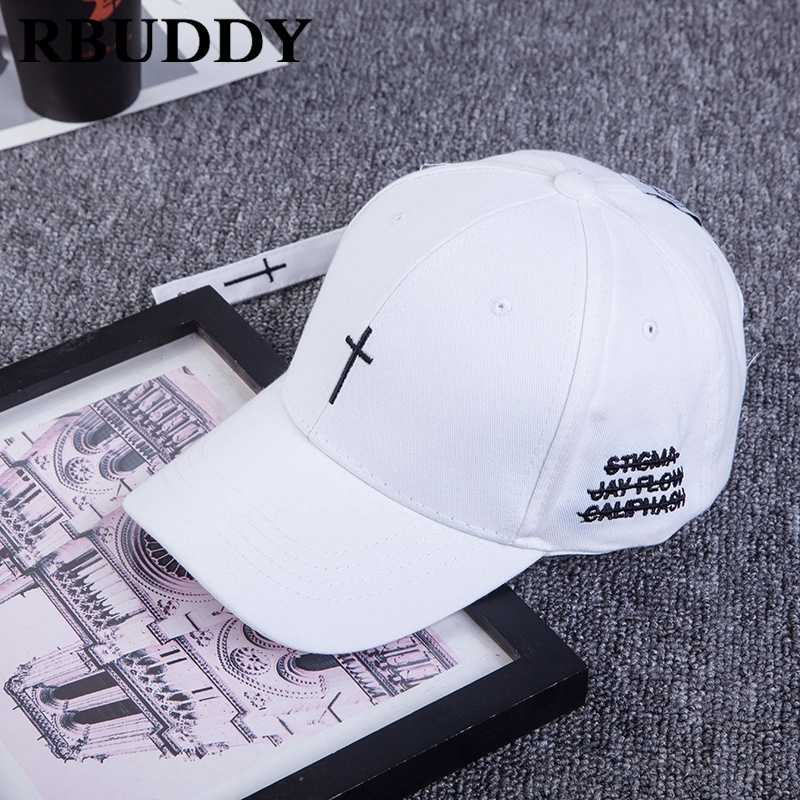 bc2972fc835 ... RBUDDY 2019 Cross Baseball Caps Letter Hip Pop Snapback Spring Summer  Trucker Dad Hat for Women ...